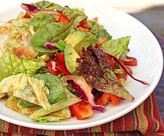 Years ago, I had a great salad at a friend's house. What made the salad great wasn't the salad ingredients but the unusual dressing. I say unusual not meaning weird but more like unexpe… Vinaigrette Salad Dressing, Salad Dressing Recipes, Salad Recipes, Salad Dressings, Raw Food Recipes, Lunch Recipes, Great Recipes, Favorite Recipes, Savory Salads