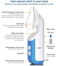Mypurmist 2 - handheld ultrapure steam inhaler Sinus Congestion, Allergy Relief, Allergies, Mists, Google Search, Health, Products, Health Care, Gadget