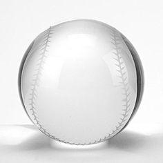 Badash Crystal Baseball Paperweight