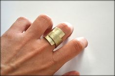Folded Ring Minimalist Ring Everyday Ring Geometric Ring
