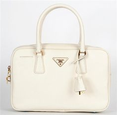 PRADA, white bag