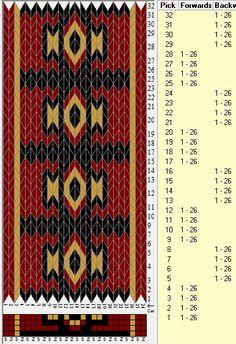 26 tarjetas, 3 colores, secuencia 4F-4B // sed_621 diseñado en GTT༺❁