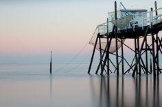 Stilt fishing hut in Gironde Estuary, France (Whitbread)