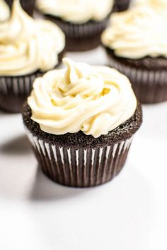 Celebrate the luck of the Irish with the best of both worlds: dark chocolate Guinness cupcakes with smooth Baileys Cream frosting!