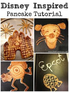 Show Off Your With Amazing Disney Pancakes Disney Diy, Disney Food, Disney Recipes, Disney Crafts, Dinners For Kids, Kids Meals, Jack Food, Pancake Art, Disneyland Food