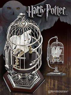 Harry Potter Miniatur Hedwig im Kaefig  Harry Potter - Sammlerstücke - Hadesflamme - Merchandise - Onlineshop für alles was das (Fan) Herz begehrt!