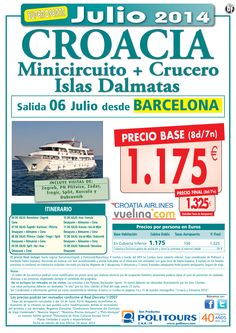 CROACIA Minicircuito+Crucero Islas Dalmatas  salida06 jul  desde barcelona ( 8d/7n) p.f. 1.325€ ultimo minuto - http://zocotours.com/croacia-minicircuitocrucero-islas-dalmatas-salida06-jul-desde-barcelona-8d7n-p-f-1-325e-ultimo-minuto/