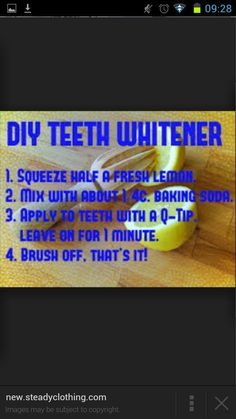Whiten your teeth fast!