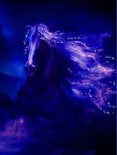 Blue fantazy horse.gif
