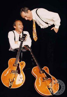 Chet Atkins & Mark Knopfler by Deborah Feingold