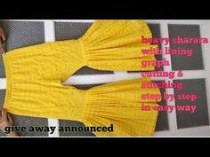 48 Trendy Sewing Projects Pillows How To Make Sarara Dress, Dress Cuts, Salwar Pattern, Pants Tutorial, Sharara Designs, Stitching Dresses, Baby Dress Patterns, Pants Pattern, Pattern Sewing