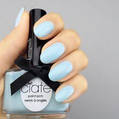 Baby Blues' #nails using @ciatelondon