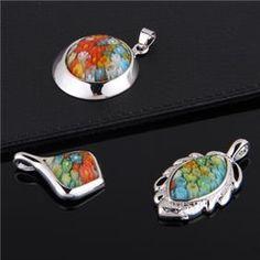Millefiori Lampwork Glass Pendants