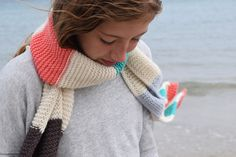 Ravelry: Lizard Scarf pattern by Libby Summers - free knitting pattern. Miss Babs Fingering Wt idea. Winter Knitting Patterns, Free Knitting, Wide Stripes, Garter Stitch, Ravelry, Free Pattern, Crochet, Scarves, Blog