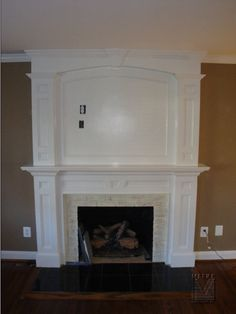 Fireplace Mantels And Surrounds | MANTELS: Fireplace Mantel & Over Mantel... Painted