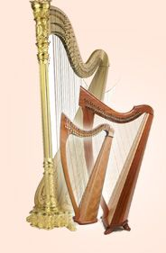 virtual harp game - shows string positions!