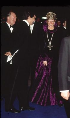The Princess of Wales was gorgeous in this royal purple gown during a visit to Chicago. Description from pinterest.com. I searched for this on bing.com/images