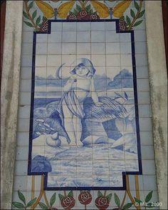 Azulejo do edifício das Quatro Estações - Este Azulejo representa a estação do…