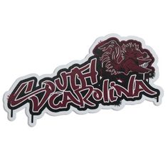 South Carolina Gamecocks Graffiti Decal #gamecocks #carolina #sc #southcarolina #carolinagamecocks Gamecock Nation, Gamecocks Football, University Of South Carolina, South Carolina Gamecocks, Graffiti, Carolina Football, Decals, Pride, Country