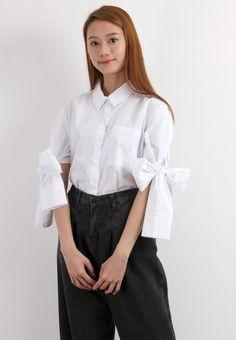 Bow Sleeves Shirt