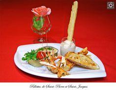 Rillettes de St Pierre et St Jacques, restaurant At'able!, Chinon, Centre, France.