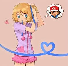 Serena #Amourshipping ^.^ <3 Kudos to whoever made this