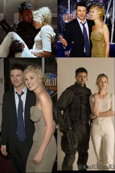 Karl Urban & Rosamund Pike -Doom - Premiere My favorite actors in a single photo aww I love them