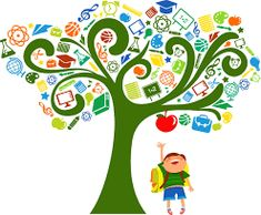 Illustration about Back to school - tree with education icons,. Illustration of colorful, design, background - 20111767 Education Clipart, Education Icon, Special Education, Art Et Illustration, Illustrations, Fun Math, Math Games, Mindfulness Courses, Photoshop Training