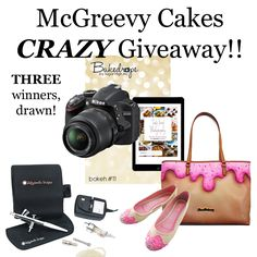 McGreevy Cakes CRAZY Giveaway http://mcgreevycakes.com/giveaways/mcgreevy-cakes-crazy-giveaway/?lucky=8909