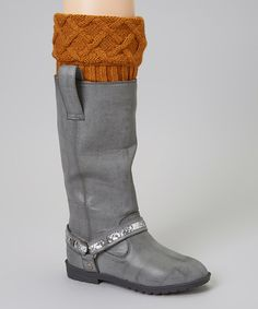 Look at this #zulilyfind! Antique Gold Cable-Knit Boot Cuffs #zulilyfinds