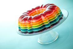 mmm...wibbly wobbly rainbow jello!