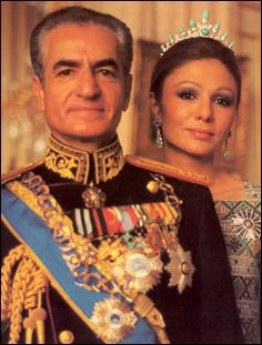 King of Iran from 1941-1979. Mohammad Reza Shah & Empress Farah.