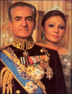 King of Iran from 1941-1979. Mohammad Reza Shah & Empress Farah.