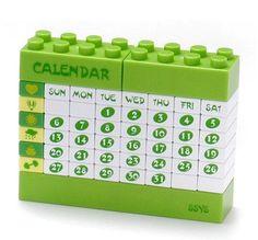DIY Lego Puzzle Calendar