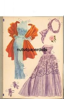 1953 Betty Grable paper doll clothes / eBay