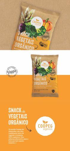 Identidade visual para snacks vegetais orgânicos COOPEG
