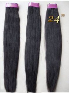 24 Inch Straight Virgin Brazilian Remy Hair For