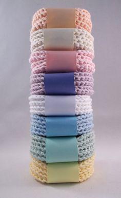 Crocheted Face Scrubbies - Cotton,Crochet Scrubbies, F Crochet Kitchen, Crochet Home, Crochet Gifts, Free Crochet, Crochet Craft Fair, Knitting Patterns Free, Crochet Patterns, Crochet Scrubbies, Confection Au Crochet