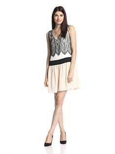 Candela Women's Alla Dress with Lace (Blush Multi)