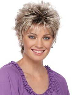 Blonde Ombre Full Bang Short Fluffy Straight Synthetic Wig Save it if you like this One 🙂 ! Related Best Short Hair Styles for Women Over hairstyles over 50 Pixie Cuts haircut Short Choppy Hair, Short Hair With Layers, Short Hair Cuts For Women, Short Hairstyles For Women, Short Pixie, Short Shag, Pixie Cuts, Curly Pixie, Modern Mens Haircuts