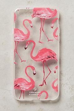 Pink Flamingos iPhone 6 Case - anthropologie.com