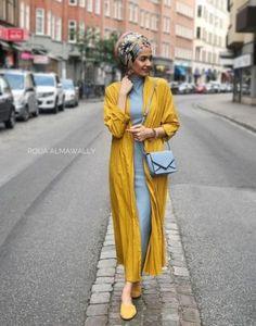 Trendy Turban Hijab Fashion with Kimono for Hijabie Girls – Girls Hijab Style & Hijab Fashion Ideas Modern Hijab Fashion, Street Hijab Fashion, Islamic Fashion, Muslim Fashion, Modest Fashion, Hijab Fashion Summer, Turban Hijab, Turban Mode, Hijab Dress