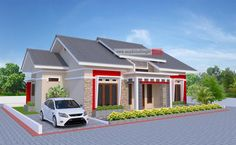 Rumah Memanjang ke Samping 12 x 10 Meter Milik Bapak Febrianto - Jasa Desain Rumah Small House Plans, House Floor Plans, Black Background Wallpaper, Exterior, Outdoor Structures, House Design, Mansions, Architecture, House Styles