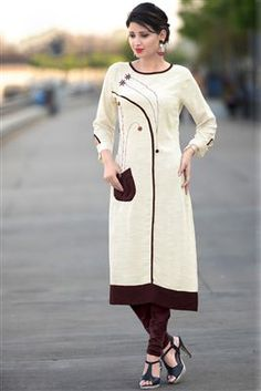 New Ideas Images Of Latest Indian Kurti Designs 2018 Womens Fashion Casual Summer, Womens Fashion For Work, Party Wear Kurtis, Kurti Patterns, Minimalist Fashion Women, Fashion Over 40, Indian Wear, Women's Fashion Dresses, Distressed Jeans