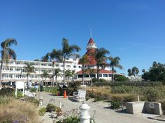 View from the beach of the Hotel Del Coronado