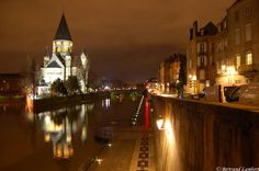 Metz, Lorraine Alsace Lorraine, My Town, France, Live, World, Places, Travel, Urban, Night