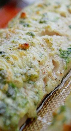 EASY 20-MINUTE GARLIC AND HERB BAKED COD~~~ If you're wondering how to make fast and easy delicious fish that tastes just like the restaurants make it, than this is the recipe for you!! Salty, creamy, herby and cheesy!