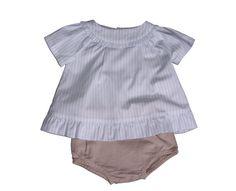 Conjunto de bebé de Laranjinha - http://elarmariodecloe.com/nueva-temporada/marcas-moda-infantil/laranjinha-moda-infantil/conjunto-de-bebe-de-laranjinha.html