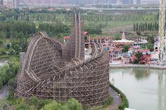 Wooden Coaster - Fireball | Happy Valley | China