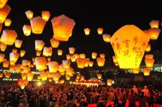 Shifen Sky Lantern Square en New Taipei City